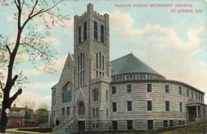Postcard Francis Street Methodist Church St Joseph Missouri