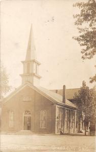 E77/ Quaker City Ohio RPPC Postcard Guernsey Co Christian Church 8