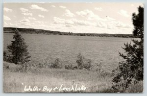Walker Minnesota~Walker Bay on Leech Lake~1940s RPPC