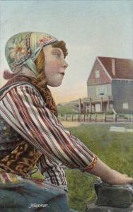 Netherlands Marken Young Girl In Taditional Costume