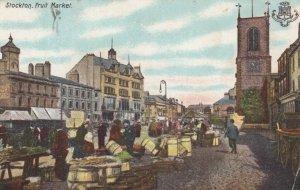 STOCKTON , UK , 1906 ; Fruit Market