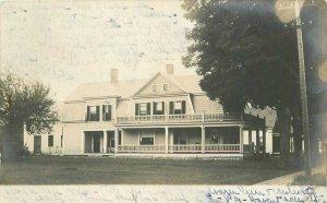 Ludlow Vermont Residence Home 1906 RPPC Photo Postcard 20-2204