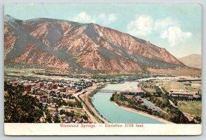 Glenwood Springs Colorado~Birdseye Panorama~Main Street~Bridge~River Road~c1905