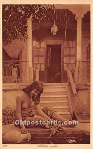 Arab Nude Postcard Fillette Arabe Unused