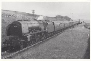 Shap Train Station in 1957 Lancashire Royal Scot Train Railway Postcard
