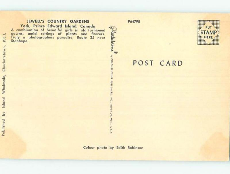Unused Pre-1980 TOWN VIEW SCENE York Prince Edward Island PE p8521