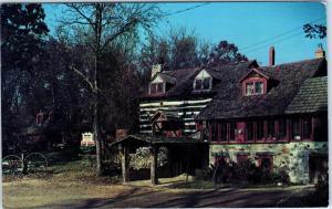 HUBERTUS, WI Wisconsin   The Rustic FOX & HOUND INN   1968  Roadside Postcard