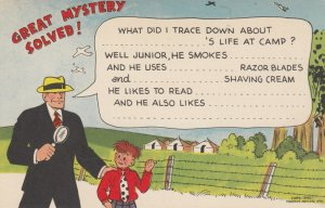 Police Detective DICK TRACY Postcard , 1940s