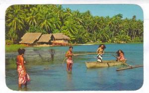 return from Sea , Tahiti , 40-60s