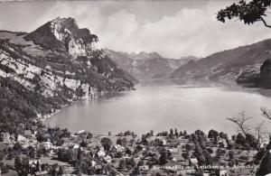 Switzerland Weesen mit Leistkamm und Alvierkette 1958 Photo