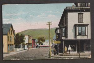 View Of Exchange Street, Gorham, NH - Used 1910 Some Wear