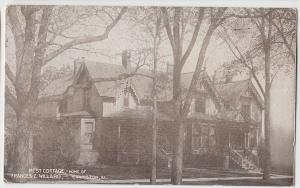 c1920 EVANSTON Illinois Postcard REST COTTAGE Home Frances WILLARD Cook County