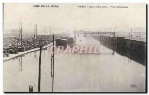 Postcard Old Crue of the Seine Paris Gare d & # 39Austerlitz View d & # 39ens...