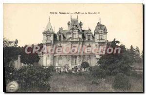 Postcard Old Saumur Chateau De Moc Baril