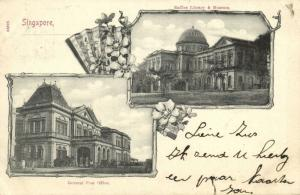 singapore, Multiview, Raffles Library and Museum, General Post Office (1903)