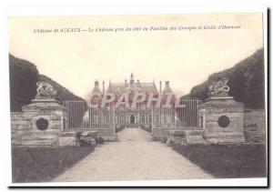 CARTE Seals Postale Ancienne The castle took the group pavilion side and grid...