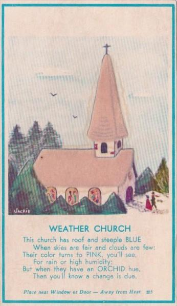 Weather Church With Felt That Changes Color With Weather
