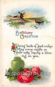 Birthday Greeting 1915