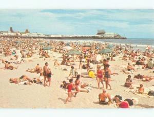 Unused Pre-1980 BEACH SCENE Atlantic City New Jersey NJ d6940