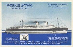 LLOYD SABAUDO ocean Liner CONTE DI SAVOIA , 1930s