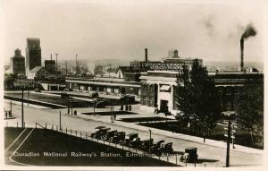 Canada - Alberta, Edmonton. Canadian National Railway Station   *RPPC