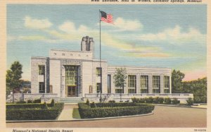 EXCELSIOR SPRINGS, Missouri, 1930-1940s ; West Entrance- Hall of Waters