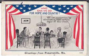 WWI - What Can We Do for Home and Country ?  Home Front 1917