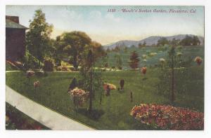 Pasadena CA Busch's Sunken Garden Edw Mitchell Postcard