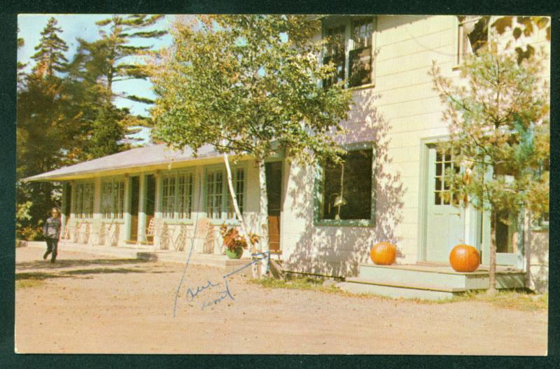 MAINE Dreamwood Pines Hotel Trailer Park PUMPKINS Acadia National Park Postcard