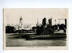 133031 ARGENTINA Buenos Aires Plaza Congreso Vintage photo PC