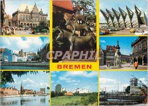 Postcard Modern Freie hansestadt Bremen und der wichtigste stuckguthafen sudl...