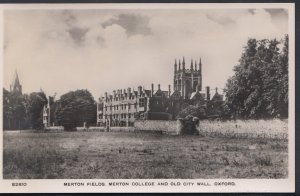 Oxfordshire Postcard - Merton Fields, Merton College and Old City Wall, Oxfor...