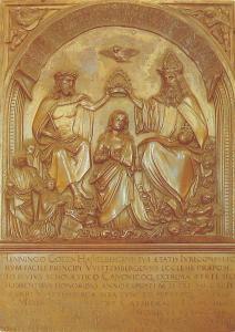 Erfurt St Mariendom Kroenung Mariens Bronzetafel von Hans Vischer