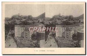 Stereoscopic Card - Lourdes - Fr Generale - Old Postcard