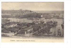 Genova - Veduta del porto dalla Villa Rosazza, Italy , 00-10s