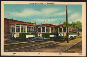 New York ~ Typical ROCHESTER Rail Equipment - LINEN