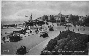 Bournemouth Undercliffe Drive and Pier Entrance Vintage Cars Postcard