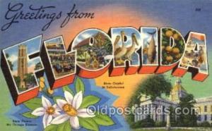 Florida Large Letter State States Post Cards Postcards  Florida USA