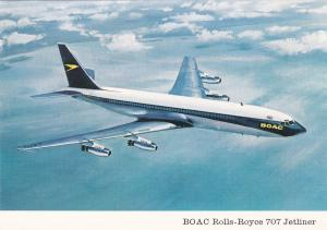Airplane in Flight, B.O.A.C. Rolls-Royce 707 Jetliner, 50-70's