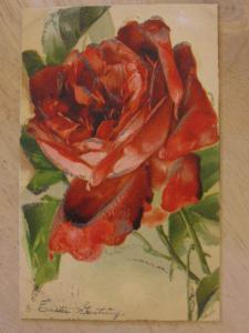 C. Klein Rose - Glitter TUCK #6734 c1910 Postcard