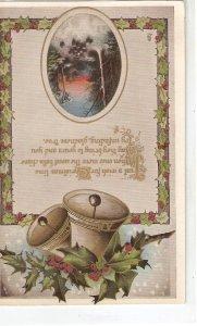 Landscape. Message. Bells. Holly Tuck Gem Christmas  Ser. PC # C3088