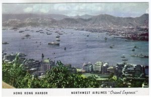 Hong Kong Harbor, Northwest Airlines Orient Express