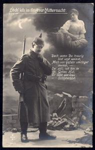 Think of Me @ Gloomy Midnight . . .  Soldier used c1917