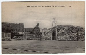 Madison, Maine, Great Northern Paper Mill And Log Pile
