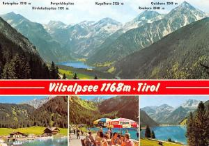 Vilsalpsee Tirol, Lake Pension Terrace Mountains Kugelhorn Rauhorn Geishorn
