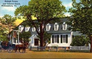Virginia Williamsburg Raleigh Tavern and Colonial Coach Curteich