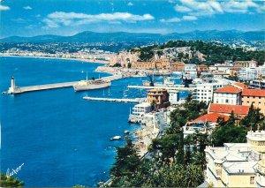 France Nice port view ship Postcard