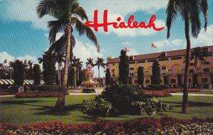 Gardens and Flamingo Fountain Hialeah Race Course Miami Florida