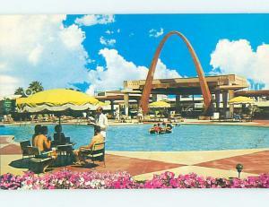 Unused Pre-1980 POOL AT WILBUR CLARK DESERT INN HOTEL Las Vegas Nevada NV L1148