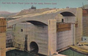 Panama East Wall Pedro Miguel Locks Panama Canal